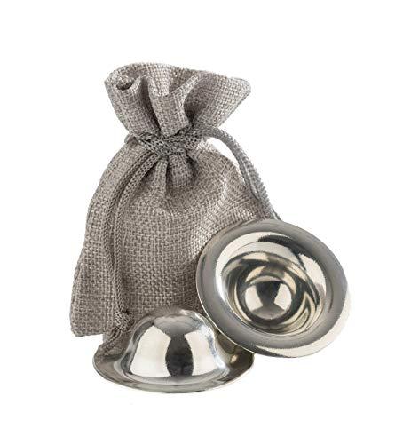ZINLY Zinnhütchen Stillhütchen Brustwarzenschutz bei empfindlichen Brustwarzen Brusthütchen aus Zinn Aus Liebe zum Stillen 1 Paar