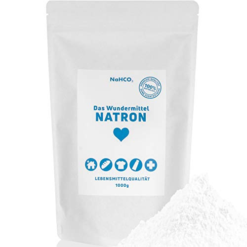 Das Wundermittel NATRON - 1kg NaHCO3 Natriumhydrogencarbonat sehr feines Pulver in Lebensmittelqualität - Für ein nachhaltiges und natürliches Leben (1000g)
