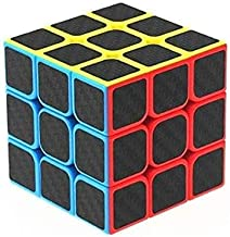 Kids Dukaan High Speed Carbon Fiber Sticker 3x3 Colors Magic Cube Puzzle Toy with Adjustable Speed (5.5cm)