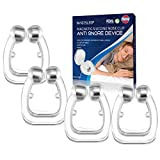 Usleepy Upgraded Schnarchstopper Premium Nasenclip [4er Set], Neuartige Nasenklammer gegen Schnarchen für möglich bessere Atmung | Für ruhige und entspannte...