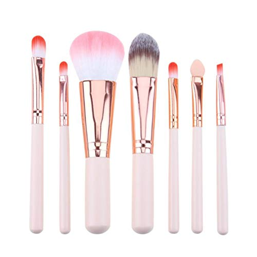 PoplarSun 7pcs Maquillage Professionnel Pinceaux Contour de Teint en Poudre Correcteur Fard à Joues Brosses Accessoires beauté