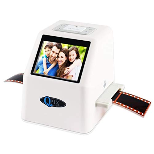Film Negative Scanner 22 MP 110 135 126KPK Super 8 Negative Photo Scanner 35mm Slide Film Scanner Digital Film Converter High Resolution 22MP 2.4' LCD(White)