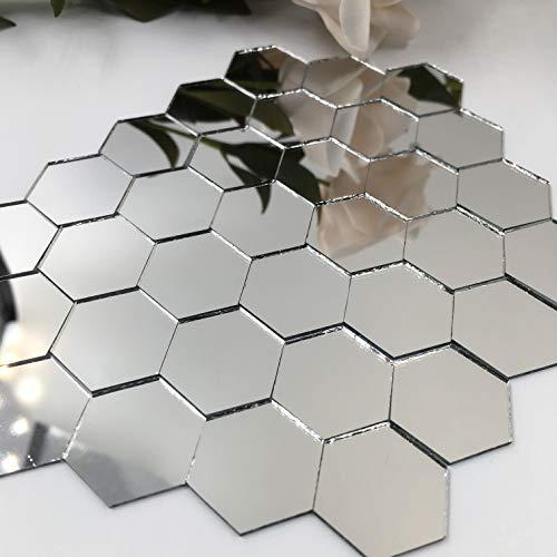 1'' Zeshoekige Mozaïek Spiegel Tegels Kleine Ambachtelijke Spiegels Bulk 100 Stukken voor Ambachtelijke Projecten