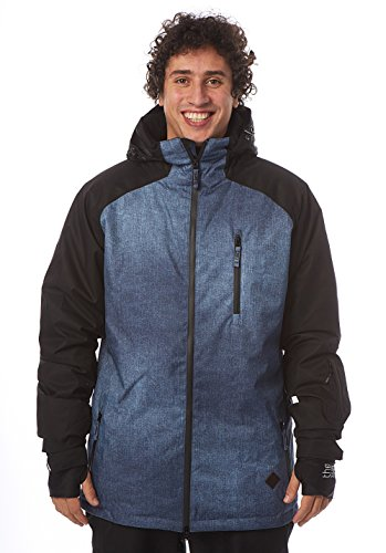 Light Herren Outerwear-Jacke Slice, Denim Pattern/Black, S