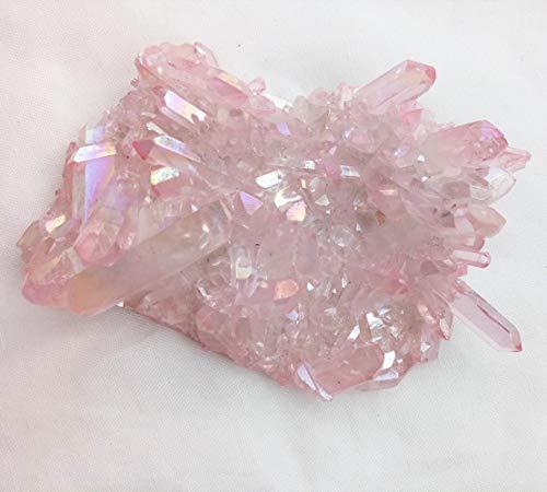 KAPU 150G Naturrosa Kristallsteinhaufen Schöne Rosa Aura Engel Quarz Kristallhaufen Reiki Heilung