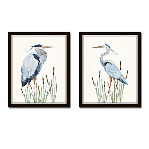 Watercolor Heron Print Set - Unframed