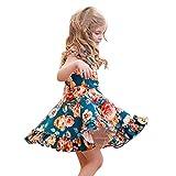 Moneycom - Conjunto de vestido de verano con falda de cumpleaños, tul chic, ceremonia, para niñas, niñas, con volantes, flores, vestido de princesa verde 18-24 Meses