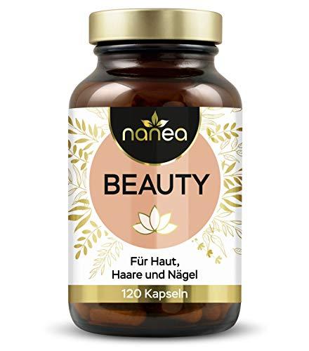 Haar Vitamine und Haut Vitamine - vegane Kapseln für Haut, Haare und Nägel - mit natürlichem Pflanzenextrakten - Hirse, Schachtelhalm, OPC und Alge - ohne Zusatzstoffe