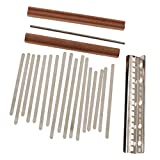 Milageto Kit de Piano para Pulgar Kalimba DIY 17 Teclas Kalimba DIY Parts Kalimba Bridge