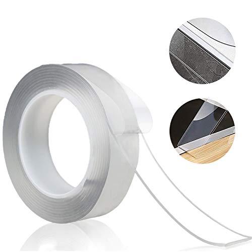 防水両面テープ超強力マジックテープ多機能、防水、耐油、防カビ、防汚、強力、透明、洗える多機能防水テープ、洗えると再利用可能、キッチンキッチンバスルームバスタブエリアバルコニー洗面器など (2mm*3m * 3cm)