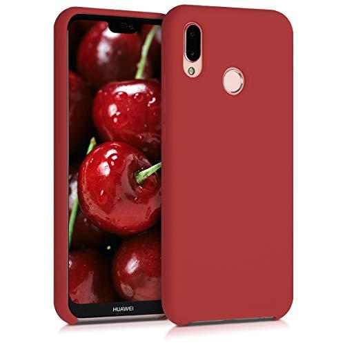 kwmobile Funda Compatible con Huawei P20 Lite - Carcasa de TPU para móvil - Cover Trasero en Rojo Oscuro