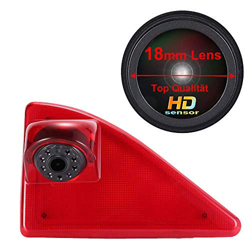 Auto derde dakbovenkant remlamp camera remlicht achteraanzicht ondersteuningscamera, 18 mm lens topkwaliteit