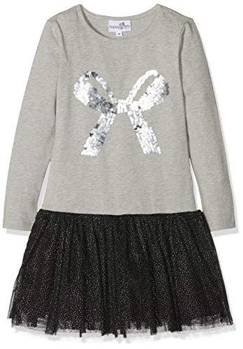 Happy Girls Mädchen Langarm Kleid mit Tüll Grau (Grey 80) 122