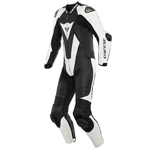 Dainese Laguna Seca 5 1-Teiler Perforierte Motorrad Lederkombi Schwarz/Weiß 48