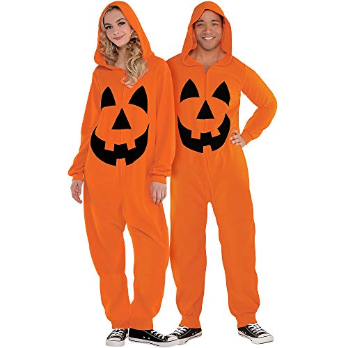 Amscan 8400439 Adult Zipster Jack-o'-Lantern - L/XL (Up to 6' 3') 1 ct