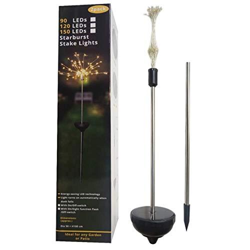 Color Yun Solar Ground Plug Firework Light Led Copper Wire Light Dandelion String Lights Garden Lawn Lights Christmas Decoration Lights