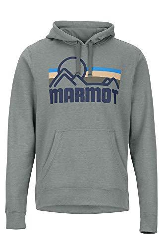 Marmot Coastal Hoody Sudadera con Capucha, Suéter para Deporte, Jersey De Senderismo, Outdoor, Transpirable, Hombre, Charcoal Heather, S