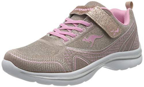 KangaROOS KangaGirl EV II Unisex-Kinder Sneaker, Rot (Dusty Rose/English Rose 6076), 32 EU