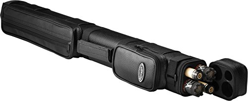Casemaster by GLD Products Q-Vault Classic Billiard/Pool Cue Hard Case, Holds 2 Complete 2-Piece Cues (2 Butt/2 Shaft), Black