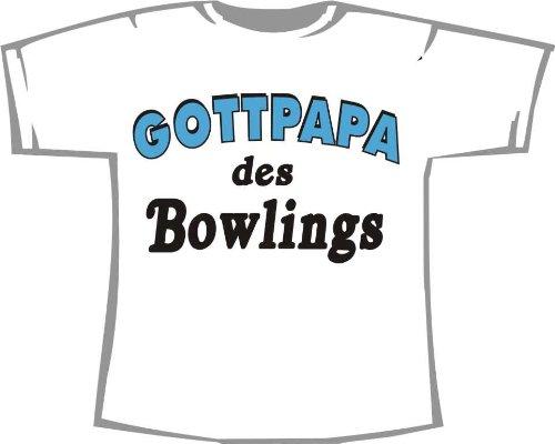 Gottpapa des Bowlings; T-Shirt weiß, Gr. 4XL; Unisex
