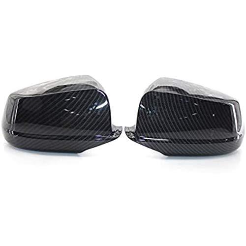 para B MW F10 F11 F18 Pre-LCI 2011-2013 Carcasas de Espejo retrovisor Lateral Coche, Espejo de ala Lateral de Puerta, Fibra de Carbono ABS Que Cubre el 1 par de Tapas Decorativas, Izquierda y Derecha