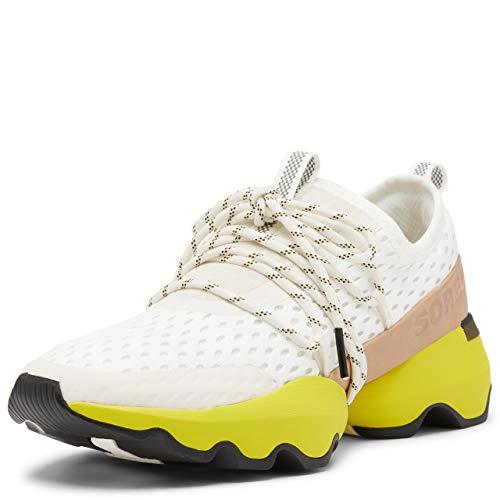 Sorel Women's Kinetic Impact Lace Sneaker - Sea Salt, Yellow - Size 12