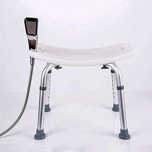 WXDP Autopropulsado Silla de baño de aleación de Aluminio Plegable Ajustable para Mujeres Embarazadas Taburete de baño Silla de baño para Ancianos