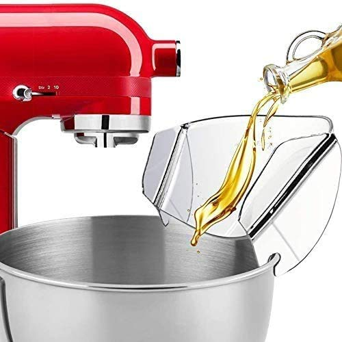 Pouring Shield,Universal Pouring Chute For Stainless Steel Bowl/Kitchenaid Bowl-Lift Stand Mixer Attachment/Accessories