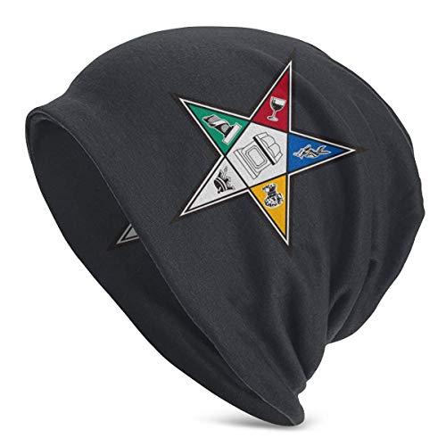 XCNGG Order of The Eastern Star OES Unisex Adultos Soft Slouchy Knit Beanie Hat Gorra de Calavera