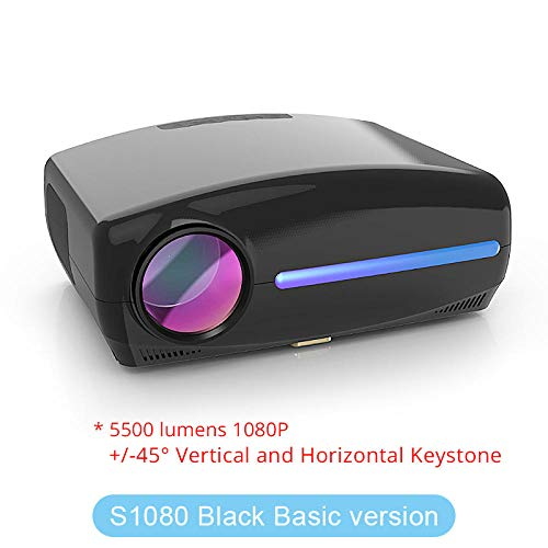 Mini Projector, LED Native 1080P Projector full HD beamer AC3 Video 6500 Lumens Home cinema HDMI Android 9.0 WIFI Optioneel