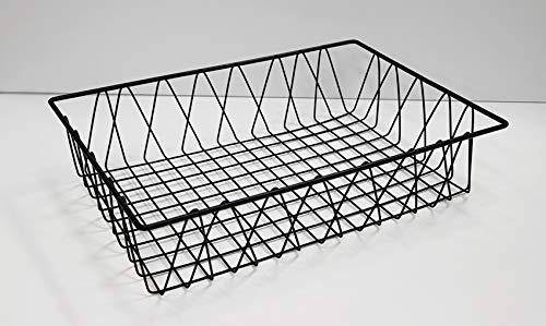 "G.E.T. Enterprises WB-954-BK 18"" x 12"" Rectangular Wire Pastry Basket, Metal"