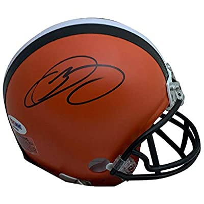 Odell Beckham Jr Autographed Cleveland Browns Signed NFL Football Mini Helmet PSA DNA COA