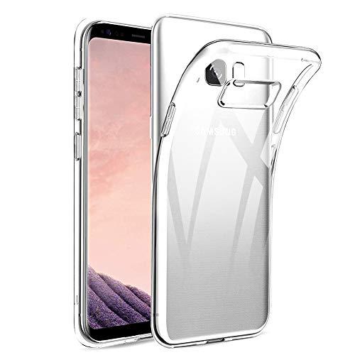 Amonke Funda Samsung Galaxy S8 Plus - Silicona Transparente TPU Carcasa, Ultra...
