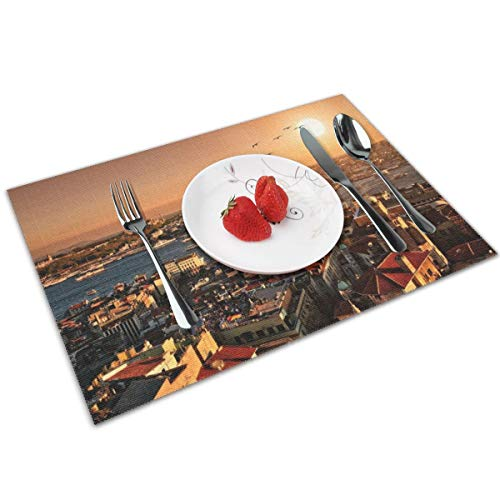 N/A Istanbul Cities Architecture Buildings Sunrise Scenic Sunrises - Manteles individuales de...