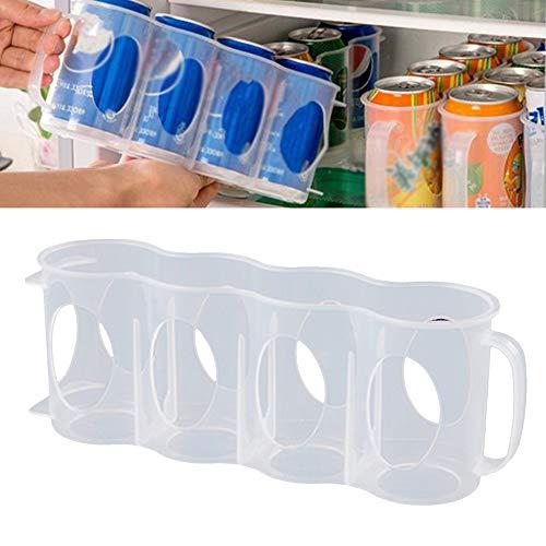 MZF 2 Uds Caja Transparente De Almacenamiento De Bebidas Enlatadas para Nevera Accesorios De Barra De Cocina Organizador De Bebidas Enlatadas Organizador Que Ahorra Espacio para Bebidas Enlatadas