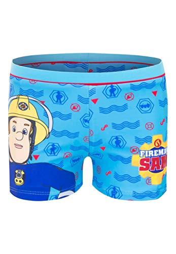 Feuerwehrmann-Sam Badehose Badeshorts Badepants, Größe:110 (5 A), Farbe:Hell-Blau