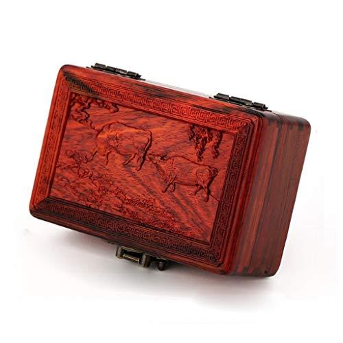 pojhf GYDSSH Decorativo de Madera Caja de Recuerdos de la Vendimia - También una joyería de Escritorio Caja Que Hace una decoración Fascinante - Gran Regalo for Adultos, Adolescentes y niños