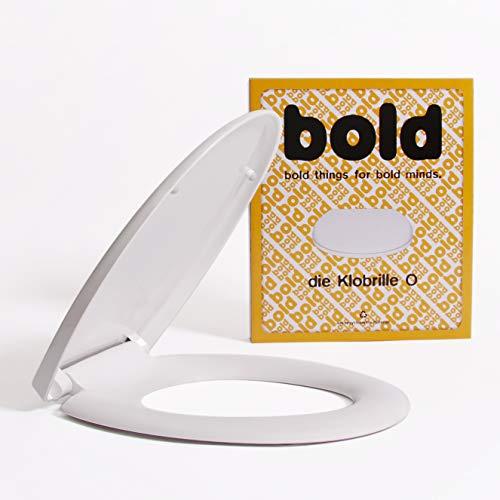 Die Klobrille O WC Sitz weiß oval mit Absenkautomatik und abnehmbar. Toilettendeckel aus PP mit Softclose