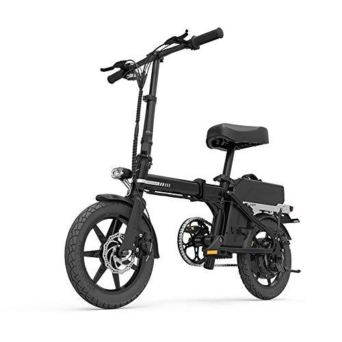 WQY 200Km 48V 20AH Plegable con Neumáticos De 14 Pulgadas Bicicleta Eléctrica Bicicleta Eléctrica Bicicleta Eléctrica,Negro