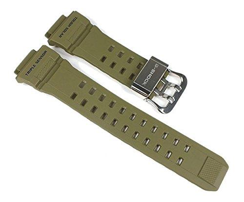 Casio G-Shock Uhrenarmband Resin Band Olivgrün für GW-9400