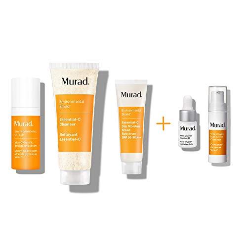 Murad 30 Day Vitamin C Rapid Brightening Kit ($90 Value) with Travel Sizes of Essential C Cleanser, Vita C Glycolic Brightening Serum, Essential C Day Moisture SPF 30, and Bonus Deluxe Samples