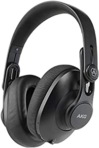 AKG K361-BT Bluetooth Studio Headphones, Over-Ear Closed-Back Design for Professional Performance, Foldable with 3 position hinges, 28 hour battery life, Built in Microphone, Earcup Gesture Controls