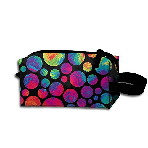 Travel Makeup Crazy Rainbow Dots Beautiful Waterproof Cosmetic Bag Quick Makeup Bag Pencil Case
