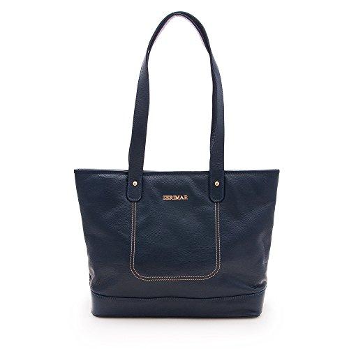 Zerimar Frauen Ledertasche | Ledertasche für Damen | Tasche Damen Umhängetasche | Farbe: Marine blau | Massnahmen: 32x27x13…