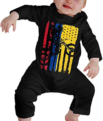 WlQshop Mono para Bebé,Mameluco Bebé Unisex American Colombia Flag Motocross Toddler Baby Boy Girl Long Sleeve Baby Girls Assorted Short Sleeve Bodies