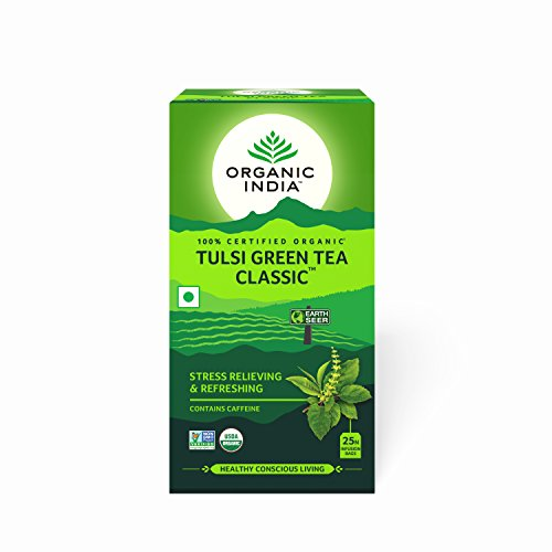 Organic India Tulsi Green Tea Classic - 25 Tea Bags