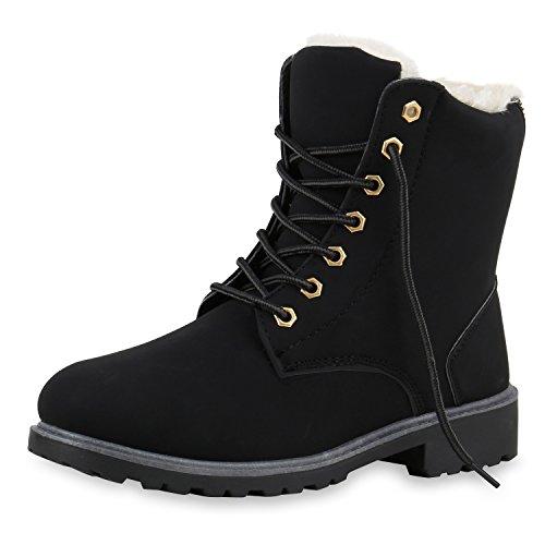 SCARPE VITA Worker Boots Damen Outdoor Stiefeletten Zipper Warm Gefüttert 129297 Schwarz Grau Warm Gefüttert 40