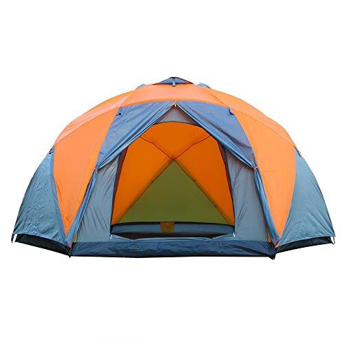 Luyshts Carpa Gran Tamaño Doble Capa 3 Puerta 6 Tienda De La Esquina Puede Acomodar A 7 Personas Tienda Manual Camping Al Aire Libre Impermeable A Prueba De Viento