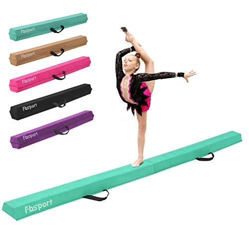FBSPORT 270cm faltender Schwebebalken, Gymnastik Balance-Balken, Gymnastikboden-Balken Balance-Balken-Leder-Balance-Fitness-Übungs-Ausrüstung für Kinder