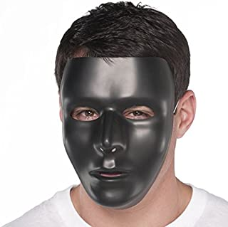 Amscan Full Face Mask, Party Accessory, Black